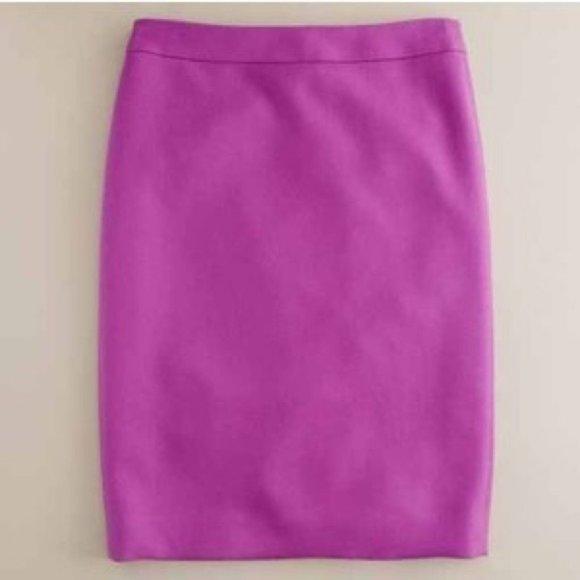 J. Crew No 2 Pencil Skirt in Bright Dahlia